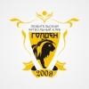 Эмблема для футбольного клуба. Сделан в цветах команды.