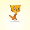 Работа продается. Солнечный котенок :). Выполнено в векторе.
