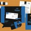 Цена 8000 руб. Логотип, визитка, цв. и ч-б. бланки, конверт, папка, ручка, диск, пакет. В стоимость входит замена названия. Конкурсная работа.