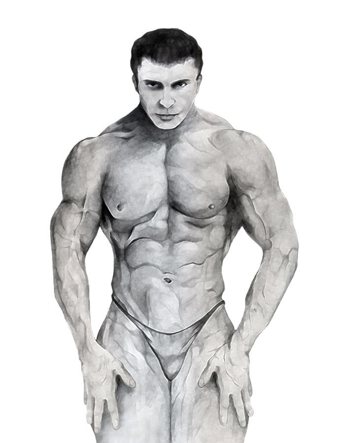 картинки накаченных мужчин срисовать форма