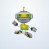 Роботенок: персонаж для IT-компании